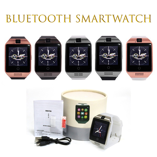Bluetooth® Smart Watch Q18 for Android and iOS Phones with Touch Screen